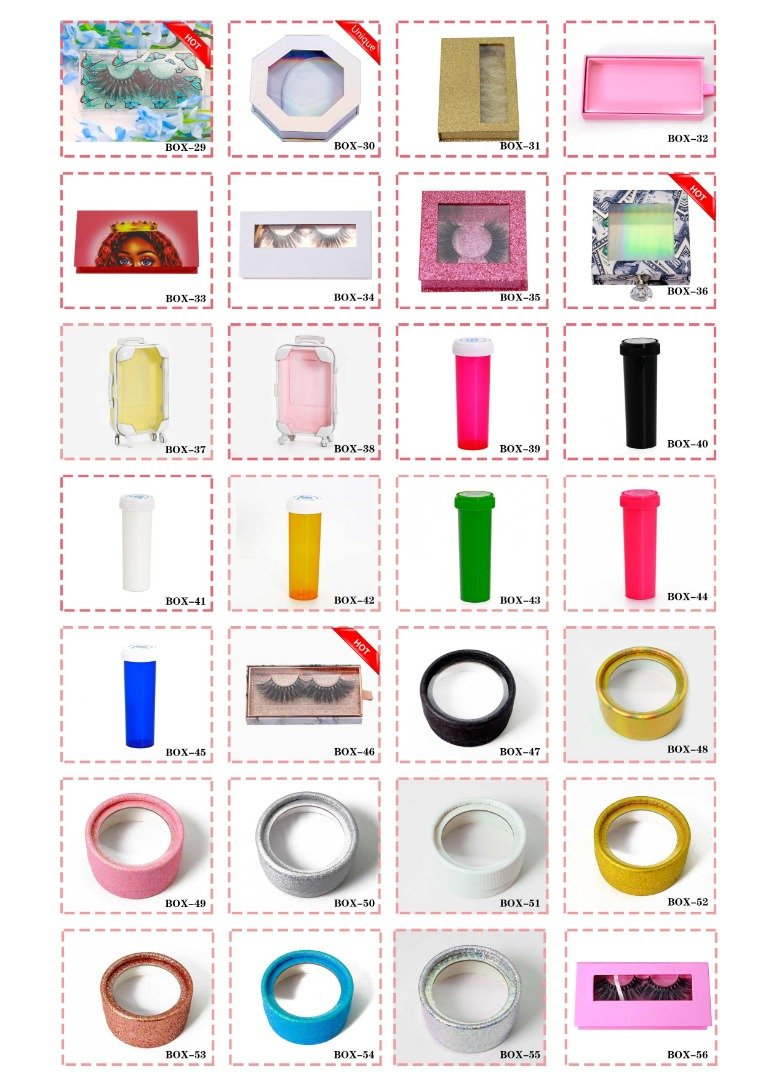 wholesale eyelashes boxes